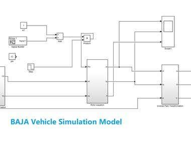 Matlab Simulation of BAJA Vehicle