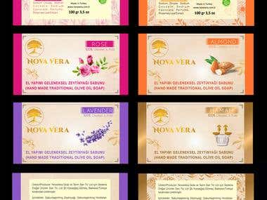 Organic Soap Labels Design