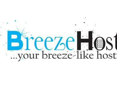 BreezeHost Logo Designs