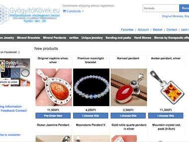 gyogyitokovek.eu || Web Shop || Opencart