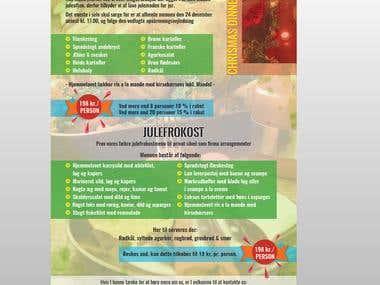 Design a Flyer for chrismas dinner
