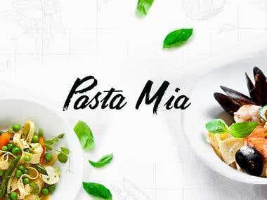"Landing Page ""Pasta Mia"""