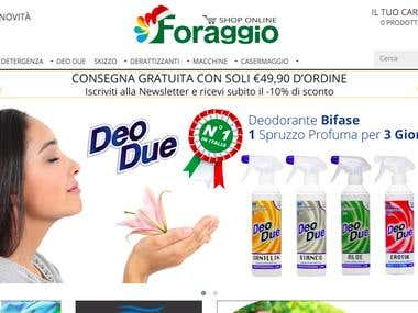 shop.foraggiosrl.it || Web Development || Opencart