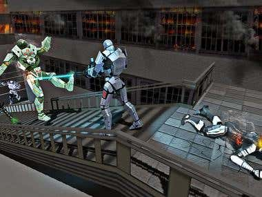Futuristic Metal X Robot War(Android and IOS Game)