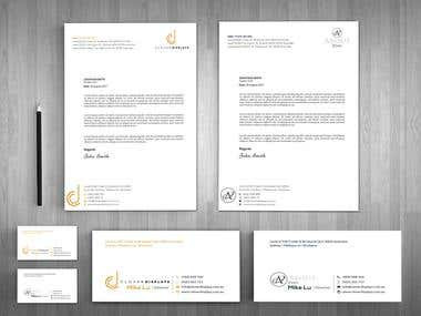 Business Card + Letterhead