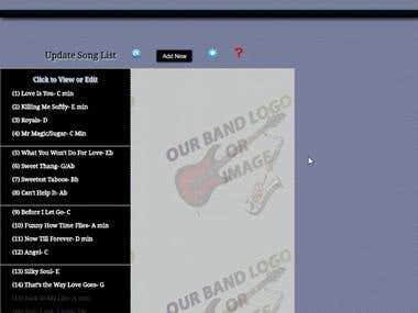Animated Demo: An Online Song List App