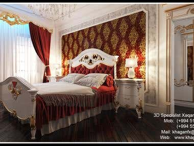 Bedroom Varobski Baku Azerbaijan