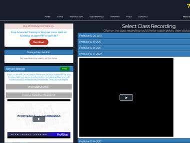 Live Trading Room Website
