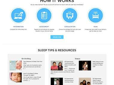 Child and Baby Sleep Expert Website