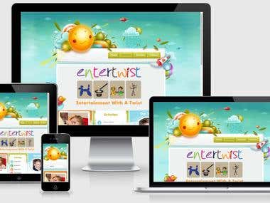 Kids Entertainment company website