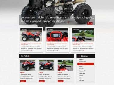 ATV Website design