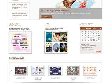 E card shopping site