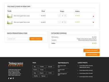 Web Design Template for E-Commerce.