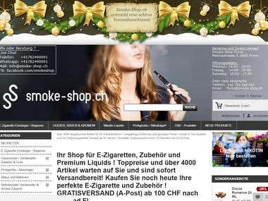 Prestashop Website smoke-shop.ch