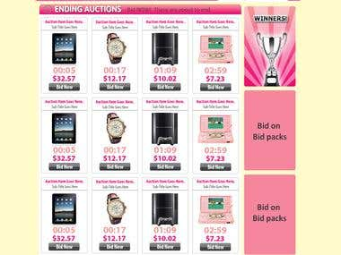 Theme for Penny auction CMS