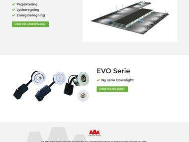 Ecommerce website for LED lights