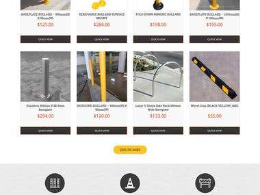 Ecommerce-bollard selling website