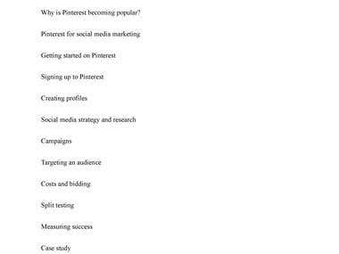 Training Manual for Social Media Marketing