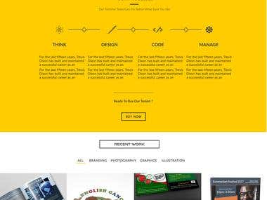 One page Web templete design
