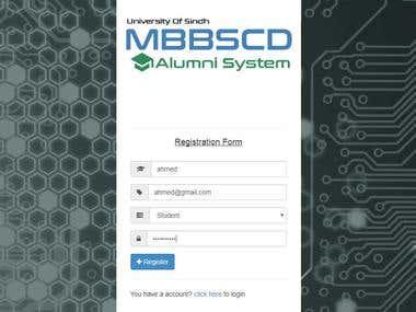 Alumni System Website