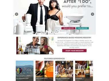 """Wedding Registry Website- """"Vebo"""""""