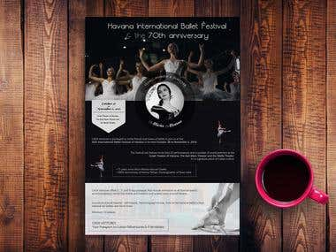 Cuban Ballet Dance 1-page Brochure