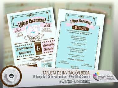 TARJETAS DE INVITACIÓN BODAS / CARDS OF INVITATION WEDDINGS