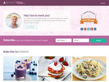 Word Press Cooking Blog