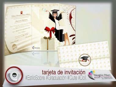 TARJETAS DE GRADUACIÓN/CARDS OF GRADUATION