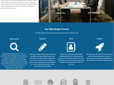 A company website with Divi theme