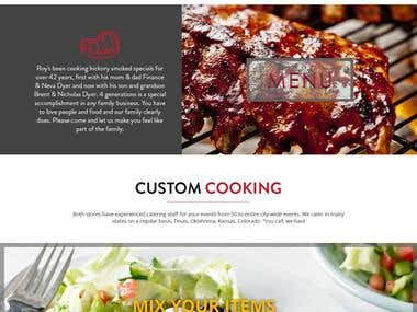 Website Mockup for BBQ Restaurant