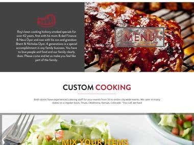 Website Mockup for BBQ Restaurant