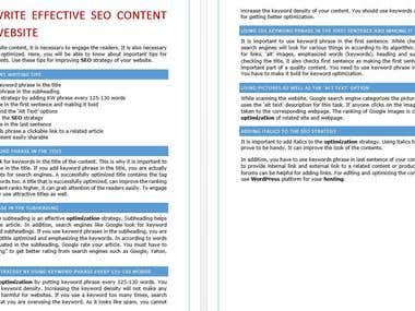how to write effective SEO content