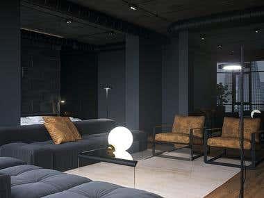 Apartment realistic visualization