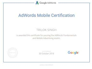 Adwords Mobile Advertising Certification
