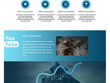 One page web page design