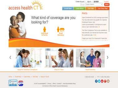Access Health CT Responsive Web Platform for Customers