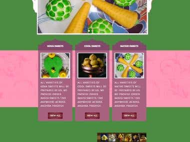 Website Back End for Sri-Maruthi Foods, India