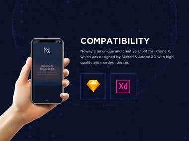 Noway Mobile App UI KIT