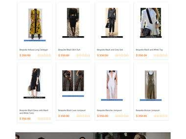 eCommerce website [http://www.danielhautecouture.com/]