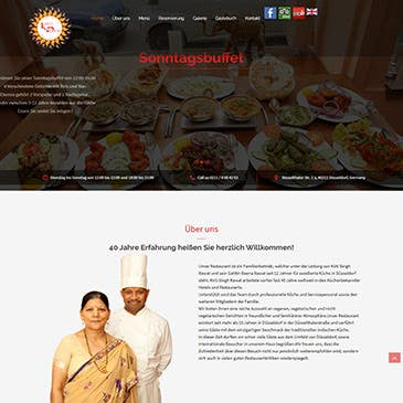 Restaurant Website for Kirtis Dhaba