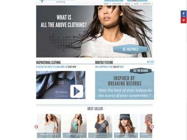 """eCommerce Website- """"All The Above- Clothing"""""""