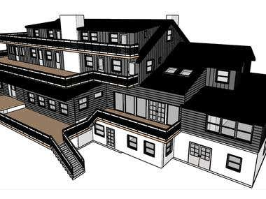 3D Modeling of building by using SketchUp