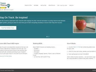 """Service Marketplace Educational Website """"Class Focused"""""""