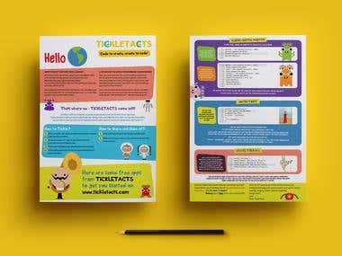 Flyer design for TICKLETACS