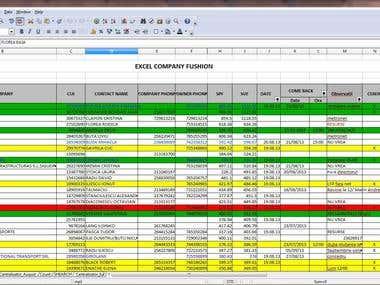 Spreadsheet - CRM