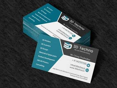 3D Techno - Business Card Design