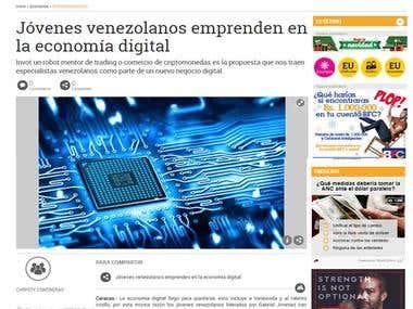 Jóvenes venezolanos emprenden en la economía digital