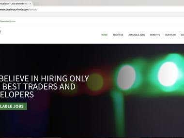Tanius WordPress CMS Website