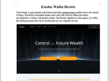 Exodus Wallet Review